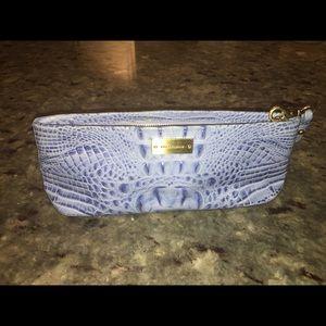 Pale lavender/light blue Brahmin clutch